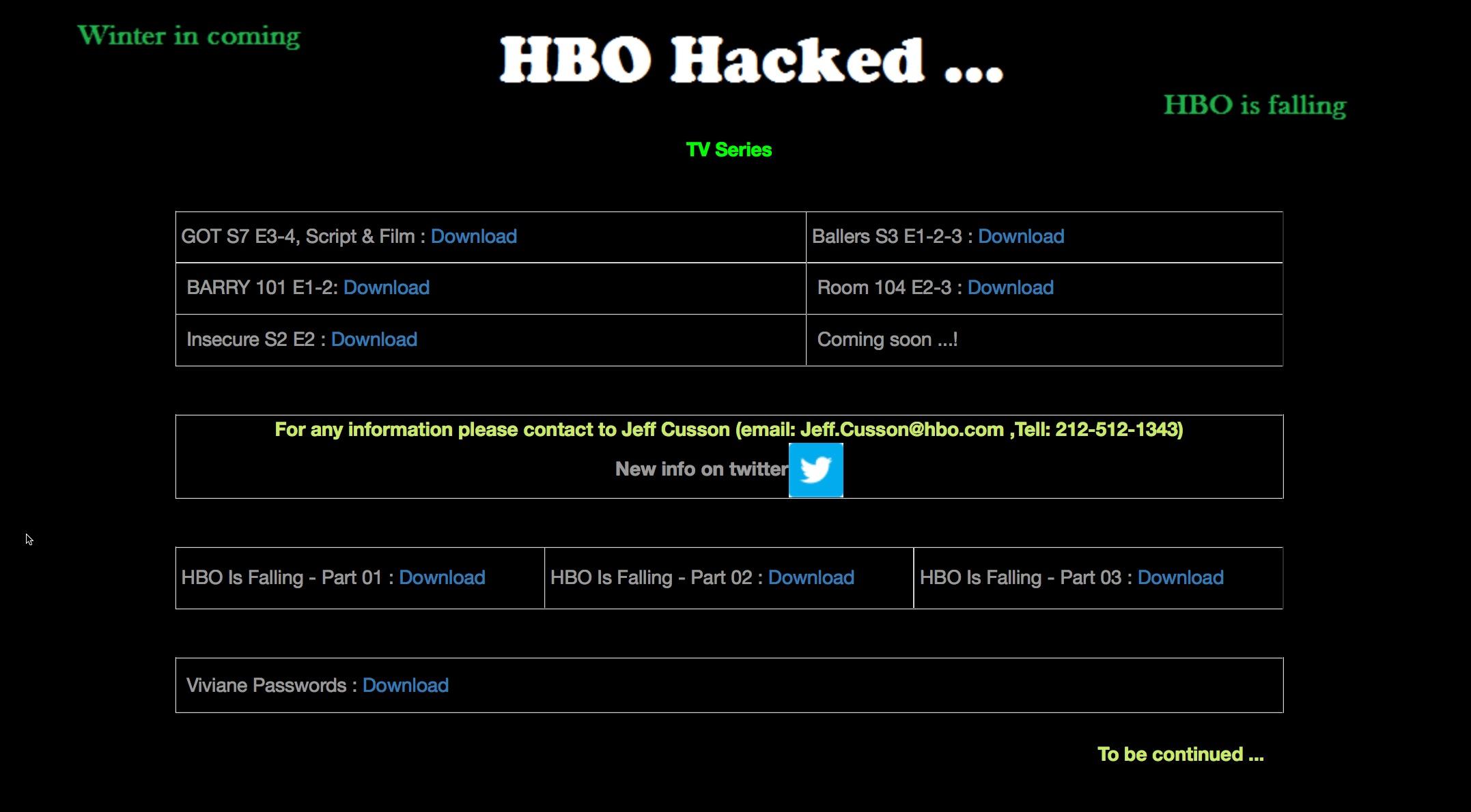 هک شبکه HBO