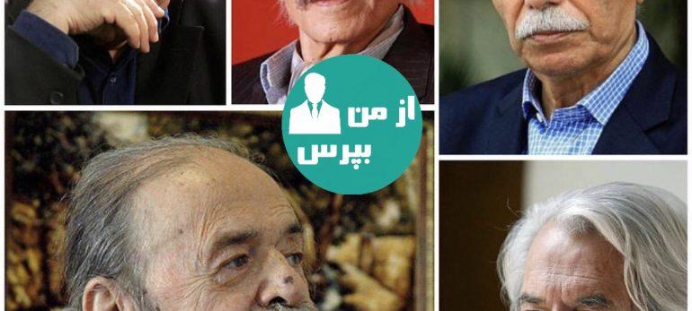نصب مجسمه پنج بازیگر پیشکسوت در شهرک سینمایی غزالی
