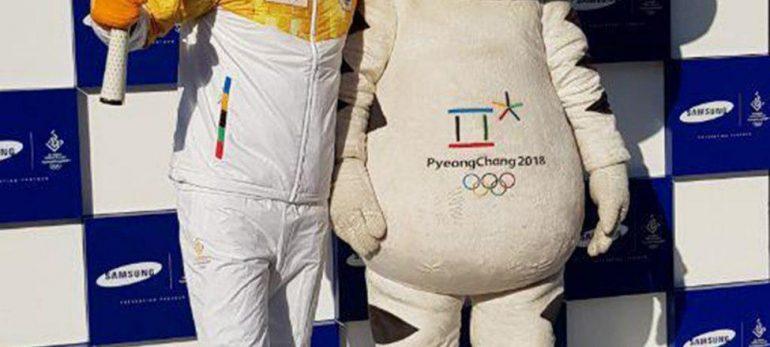 حمل مشعل المپیک زمستانی2018 توسط بهرام رادان
