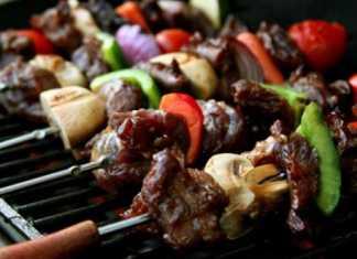 گوشت گوساله با سبزیجات