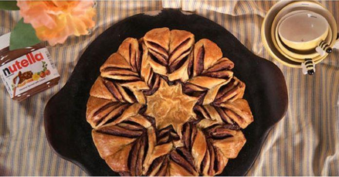 کیک ستاره ای نوتلا