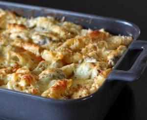 طرز تهیه مرغ تنوری با پاستا