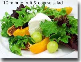 طرز تهیه سالاد پنیر و میوه