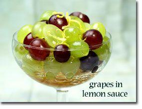 طرز تهیه انگور در سس لیمو عسل