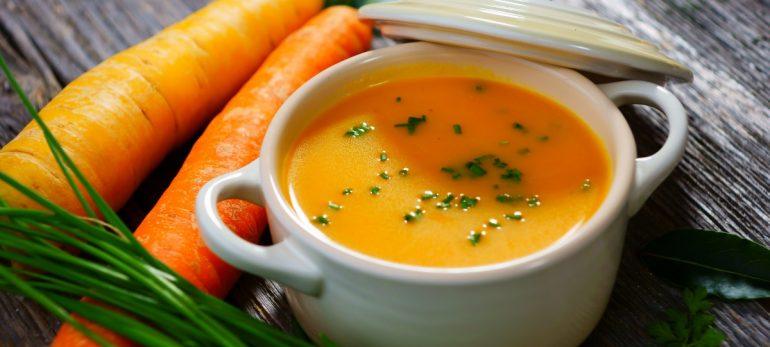سوپ هویج ، تره فرنگی و زنجبیل