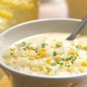 سوپ ذرت شیرین و ماهی