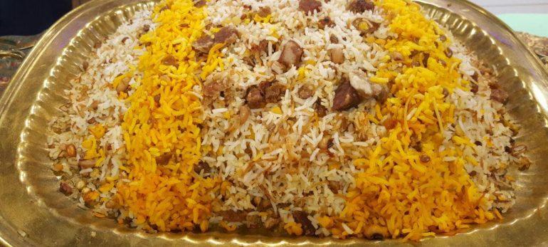 خوراک برنج و لوبیا چشم بلبلی