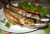 خوراک ماهی با سس تره فرنگی