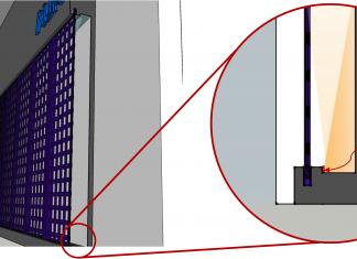 جزئیات مقاطع دیوار و بررسی تابش نور