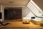 زیباسازی سقف خانه با کاغذ دیواری