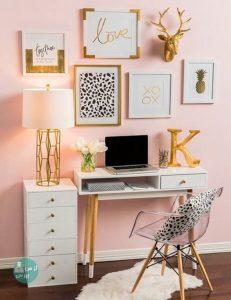تزئین دیوار اتاق خواب با رنگ