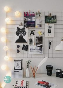 تزئین دیوار اتاق با برد خاطرات