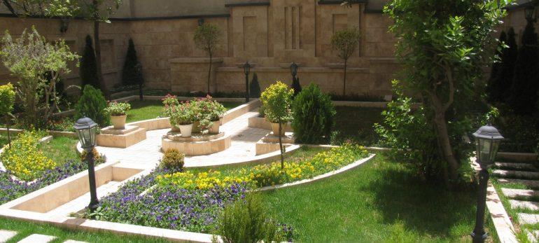 طراحی باغچه به شیوه ای مدرن و زیبا