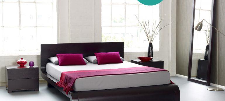 دکوراسیونی خاص و تک برای اتاق خواب با استفاده از شال تخت