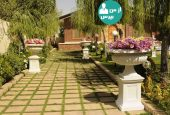تزئین حیاط با استفاده از گلدان و ایجاد فضایی دل انگیز