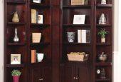 دکوراسیونی خلاقانه با ایجاد کتابخانه ای در کنج دیوار