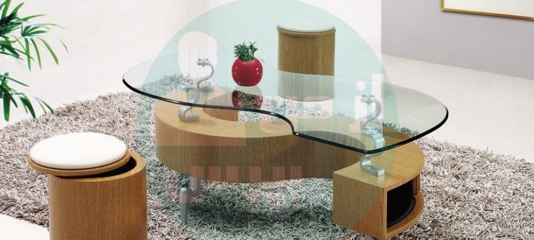 راه هایی برای تزئین میزهای شیشه ای