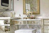 طراحی اتاق خواب به کمک میز آرایش مدرن