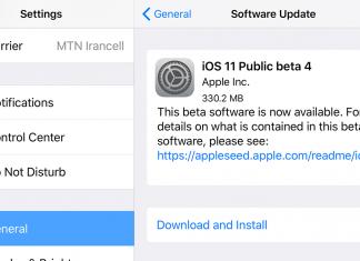 انتشار چهارمین نسخه بتای عمومی iOS 11