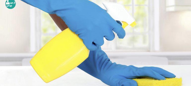 در خانه تکانی مراقب مواد شوینده باشید