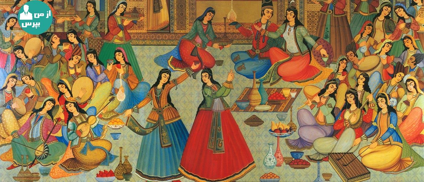 تاریخچه لباس ایرانی